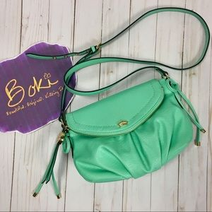 Juicy Couture Mint Green Crossbody Foldover Bag